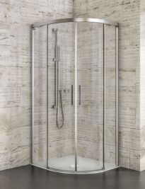 Amber Curved Shower Screen 900