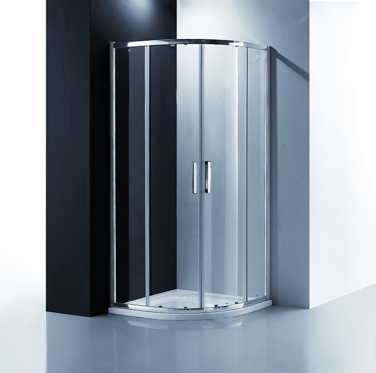 Amber Curved Shower Screen 1000 - Quality Tiles and Homeware Products