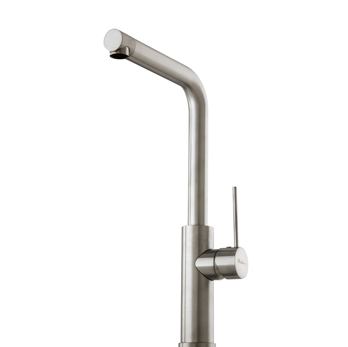 Right Angle Mixer : Mito right angle mixer brushed chrome quality tiles and